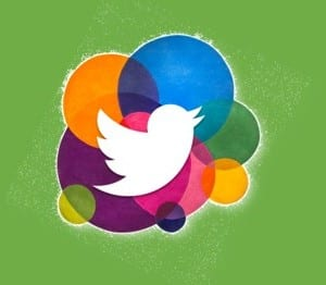Twitter bird with green background