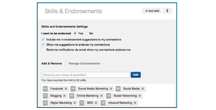 LinkedIn Skills and Endorsement