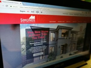 Simonds homes homepage